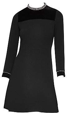 Sandro Women's High-Collar Mini Dress