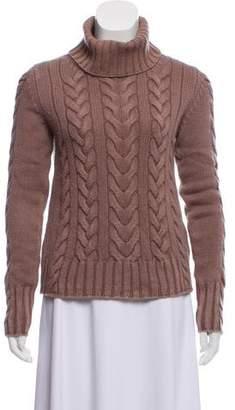 Iris von Arnim Cable Knit Turtleneck Sweater