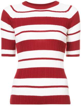 Jason Wu striped knitted top