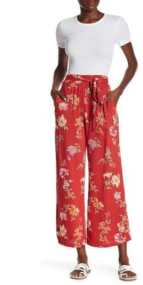 Angie Front Tie Floral Print Pants
