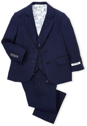Isaac Mizrahi Toddler Boys) Navy 3-Piece Suit Set