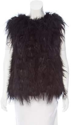 Oscar de la Renta Shearling And Fox Fur Vest w/ Tags