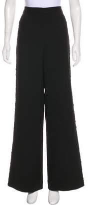 Self-Portrait High-Rise Wide-Leg Pants w/ Tags