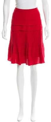 Temperley London Silk Pintuck-Accented Skirt