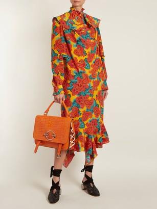 J.W.Anderson Paisley Print Silk Midi Dress - Womens - Orange Multi