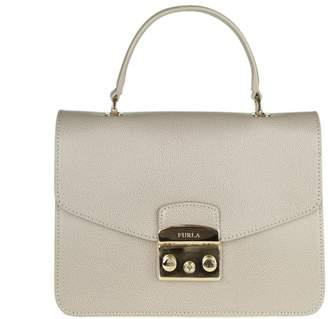 Furla metropolis S Hand Bag In Tortora Color Leather