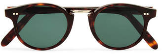 Cutler and Gross Round-Frame Tortoiseshell Acetate And Gold-Tone Sunglasses