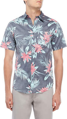 Ocean Current Mindset Floral Short Sleeve Shirt