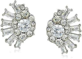 Carolee Glass Ceiling Cluster Spray Clip On Earrings