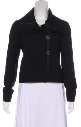 Burberry Long Sleeve Wool Jacket