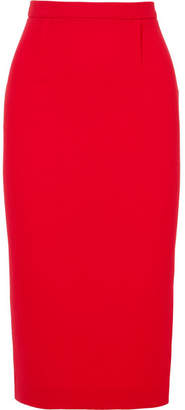 Roland Mouret Arreton Wool-crepe Pencil Skirt - Red