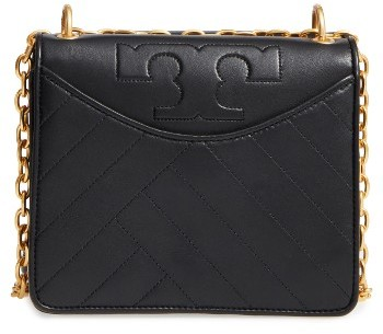 Tory BurchTory Burch Chevron Quilted Leather Crossbody Bag - Black
