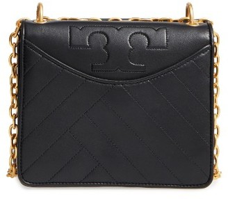 Tory Burch Chevron Quilted Leather Crossbody Bag - Black $475 thestylecure.com