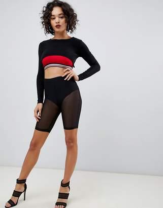 Asos Design DESIGN mesh legging short