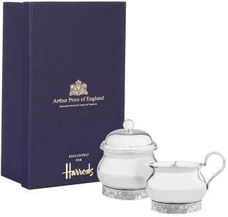 Arthur Price Of England Pompadour Sugar Bowl and Cream Jug Set