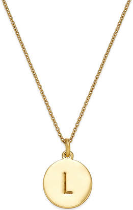 "Kate Spade 12k Gold-Plated Initials Pendant Necklace, 17"" + 3"" Extender"