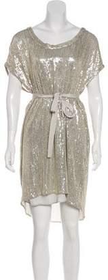 Diane von Furstenberg Silk Sol Sequined Dress