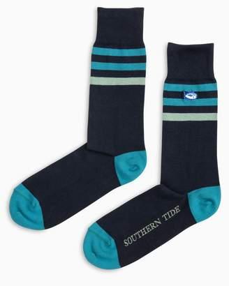 Southern Tide University Stripe Socks