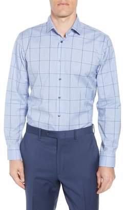 Calibrate Trim Fit Non-Iron Windowpane Dress Shirt