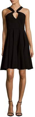 Halston Women's Pleated Fit-&-Flare Dress