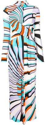 Emilio Pucci Shell Print Maxi Dress