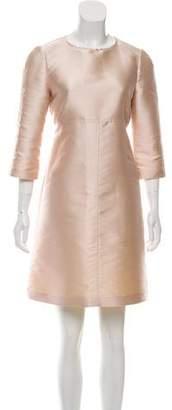 Tara Jarmon Three-Quarter Sleeve Silk-Blend Dress