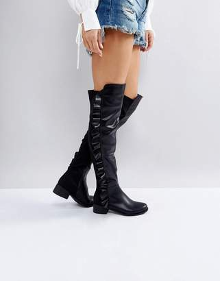 1d8b1dc0e36 Truffle Collection Flat Over Knee Boots