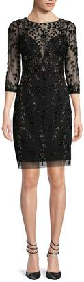 Aidan Mattox Women's Velvet Print Sheath Dress