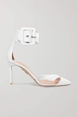 Aquazzura Seduction Pvc And Leather Pumps - White