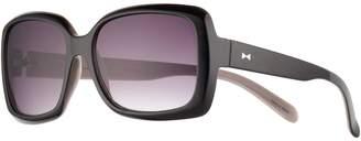 Lauren Conrad Shock-O-Late 57mm Rectangle Gradient Sunglasses