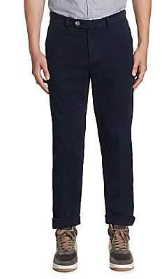 Brunello Cucinelli Men's Slim-Fit Chino Pants