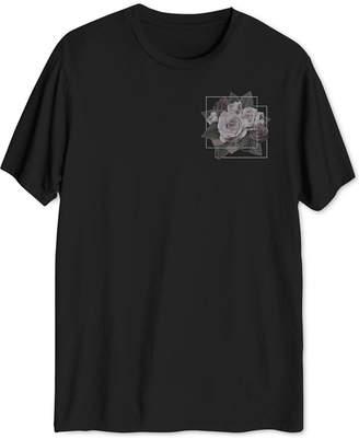 Hybrid Men Floral Squares T-Shirt