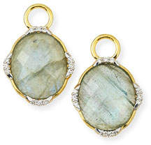 Jude Frances Lisse 18K Oval Labradorite Earring Charms with Diamonds