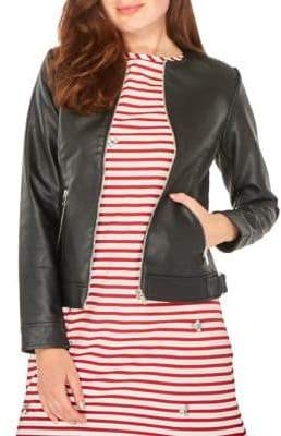Dorothy Perkins Faux Leather Zip Jacket
