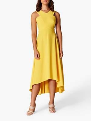6271c910fa Karen Millen Drop Hem Midi Dress, Yellow
