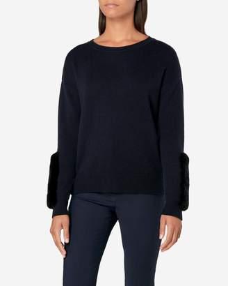 N.Peal Fur Panelled Sweater