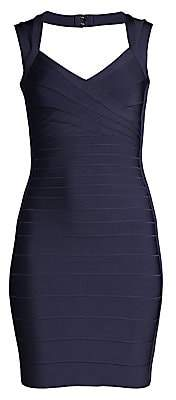 Herve Leger Women's Basics Cocktail V-Neck Bandage Dress