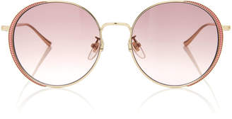 Gucci Guillochet Rounded Sunglasses