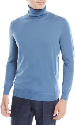Ermenegildo Zegna Men's Wool-Cashmere Turtleneck Sweater
