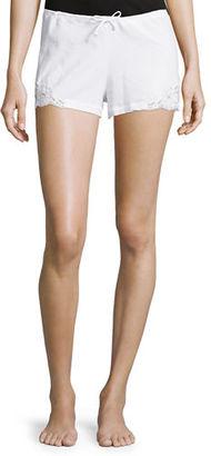 La Perla Souple Lace-Trim Drawstring Shorts $134 thestylecure.com