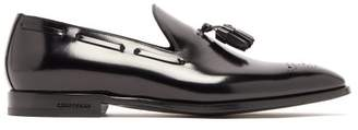 Burberry - Buxley Tassel Patent Leather Loafers - Mens - Black