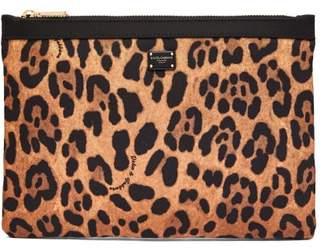 Dolce & Gabbana Small Leopard Print Pouch - Womens - Leopard