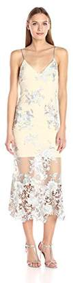 ABS by Allen Schwartz Women's Embroidered Lace Slip Gown with Spaghetti Straps