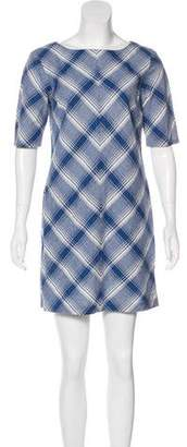 Steven Alan Plaid Print Mini Dress