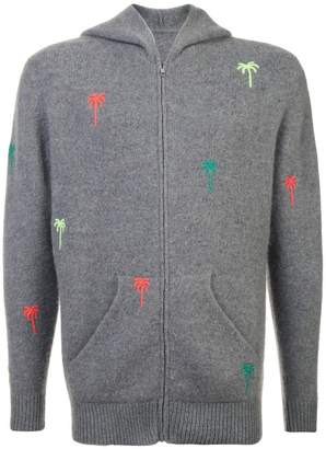 The Elder Statesman hooded zip cardigan