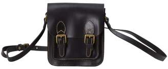 EAZO - Small Genuine Leather Satchel Bag in Black