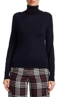 Victoria Beckham Merino Wool Polo Neck Sweater