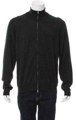 Maison Margiela Suede-Accented Wool Sweater