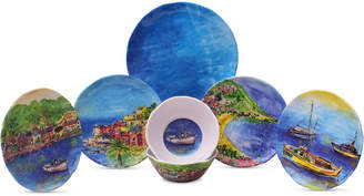 222 Fifth Sage Boat 12-Pc. Melamine Dinnerware Set, Service for 4