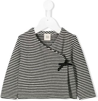 Douuod Kids striped wrap top